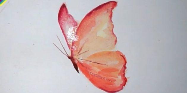 Kuinka tehdä realistinen perhonen maaleilla