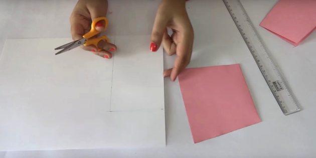Geburtstagskarte mit deinen eigenen Händen: Weißes Detail schneiden