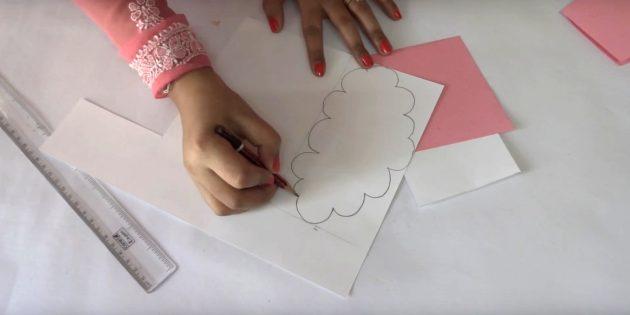 Position in einer Rechteckfigur, ähnlich der Wolke