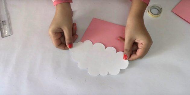 Geburtstagskarte mit deinen eigenen Händen: Wolke bekommen