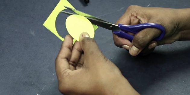 بطاقات المعايدة لأيديك: قطع دائرة الورق الثلاثة الملونة