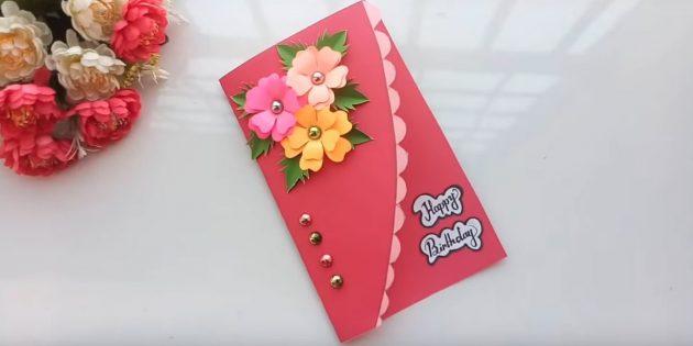 Come fare le carte con fiori per le tue mani