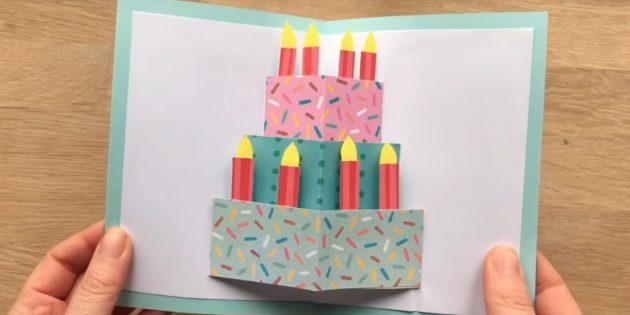 วิธีทำไพ่ด้วยเค้กวันเกิดทำด้วยตัวเอง