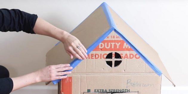 Cat House med dine egne hænder: Stick taget