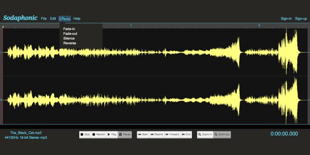 Áudio gerado sodafónico.