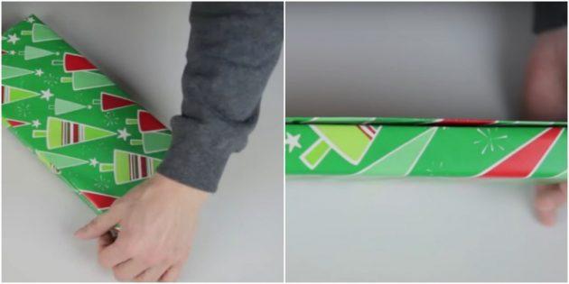 วิธีการแพ็คของขวัญรูปสี่เหลี่ยมผืนผ้าด้วยวิธีในแนวทแยง