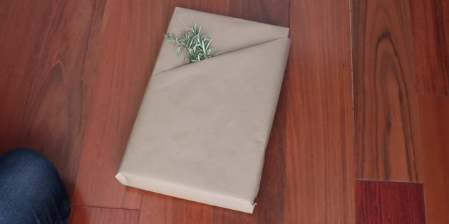 วิธีการทำบรรจุด้วยกระเป๋าสำหรับของขวัญรูปสี่เหลี่ยมผืนผ้า