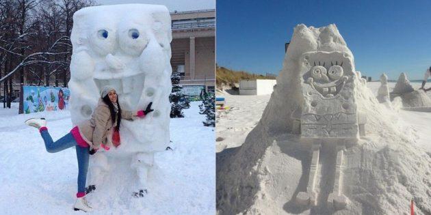 雪数字:海绵鲍勃