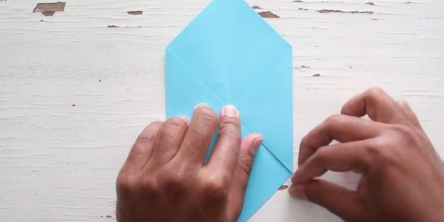 Kendi ellerinizle zarf: dik açı oluşturun