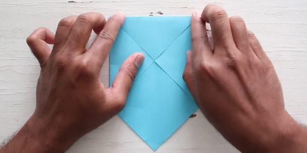 Өз қолыңызбен конверт: Жоғарғы бұрышты тексеріңіз
