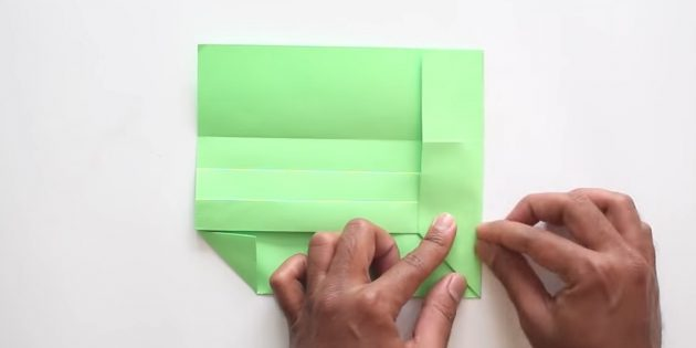 конверт своими руками без клея: загните правую часть