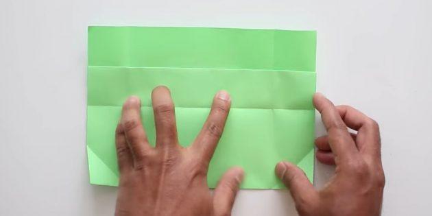 Tutkalsız ellerinizle zarf: Alt kısmı kırın