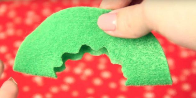 Joulu lelut tekevät sen itse: Tee kuvio yhdellä yksityiskohtana
