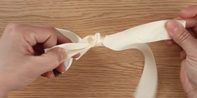 Paano itali ang isang bow: bumuo ng isang node