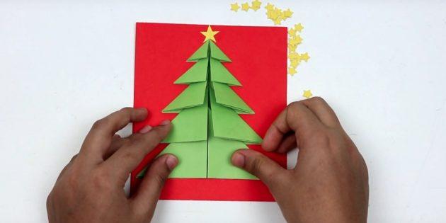 Ginagawa ito ng mga postkard ng Bagong Taon: Kumpletuhin ang Christmas tree