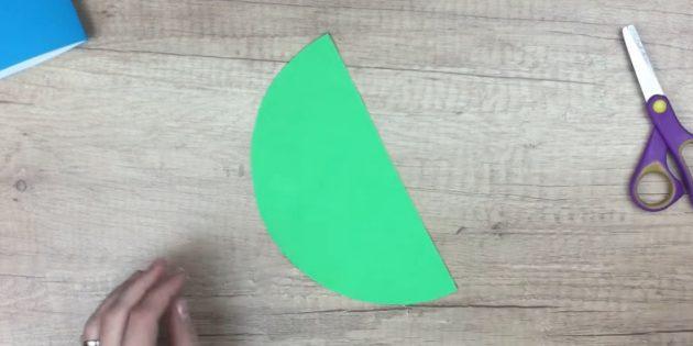 Жаңа жылдық ашық хаттар өзіңіз жасайды: шеңберді кесіңіз