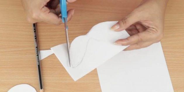 کارت پستال برای سال جدید با دستان خود: ایجاد یک سبیل