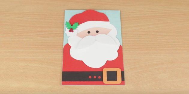 Carte du Nouvel An avec Santa Claus