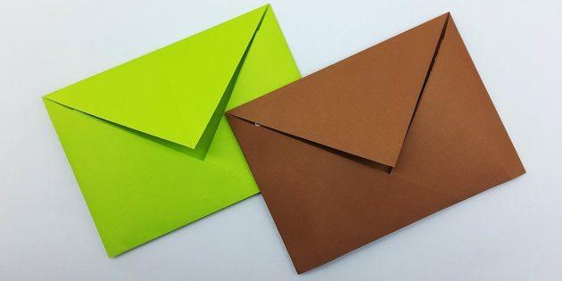 Origami'de tutkal olmadan klasik bir zarf nasıl yapılır