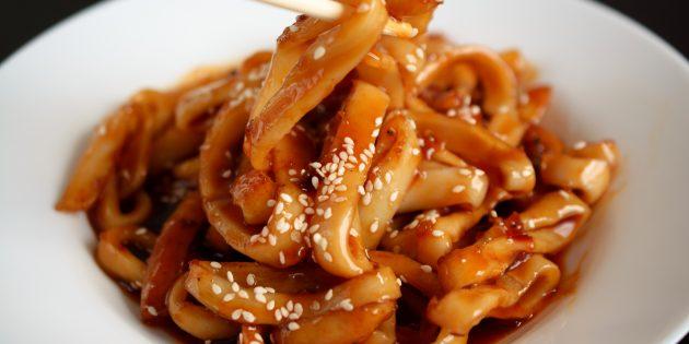 Маринованные кальмары с соевым соусом: простой рецепт
