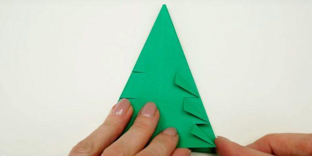 Árvore de Natal com suas próprias mãos: gerar cantos