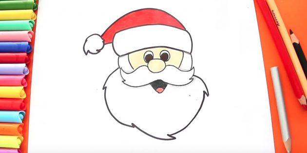 サンタクロースの頭を描く方法