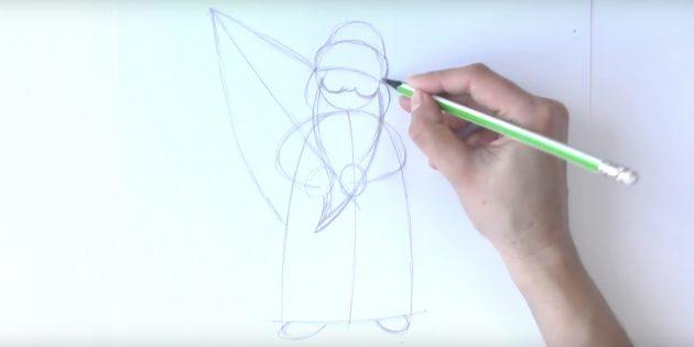サンタクロース放牧を描く方法:ひげ、鼻、頬を加える