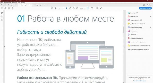 Programy dla PDF: Adobe Acrobat Reader