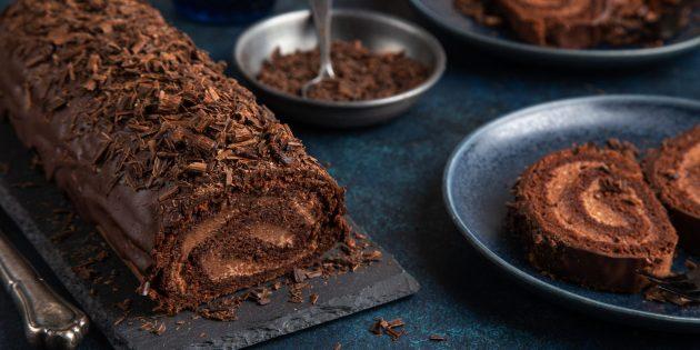 Sådan laver du chokolade kaffe kiks rulle