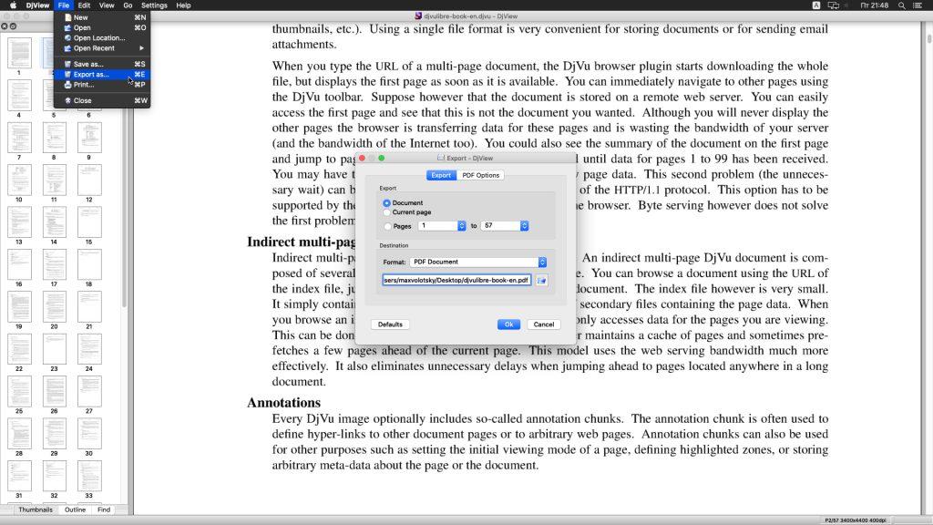 PDF'de DJVU Dönüştürme: DJView