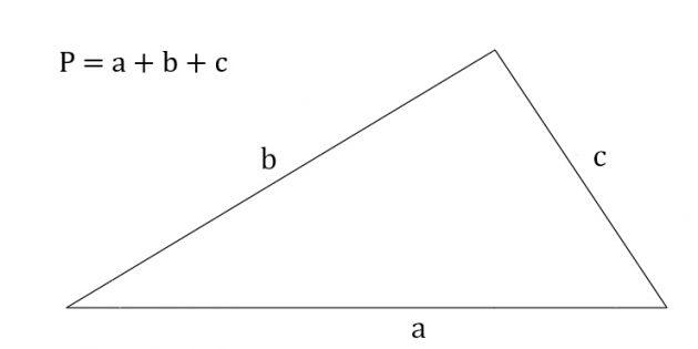 Cara mencari keliling segitiga dengan mengetahui ketiga sisinya