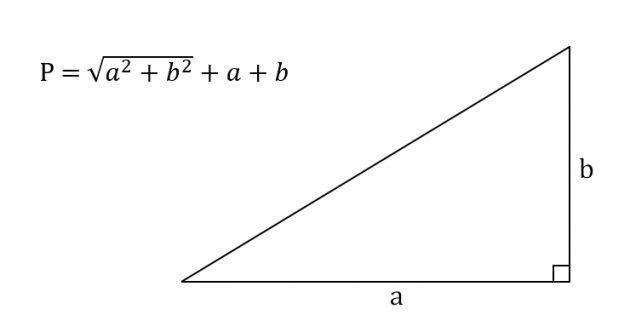 Hur man beräknar omkretsen av en rätt triangel, känner benen