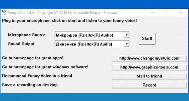 VOICE CHANGE PROGRAMMER: Sjovt stemme