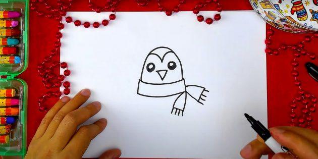 पेंगुइन कैसे आकर्षित करें: स्कार्फ युक्तियाँ बनाएं