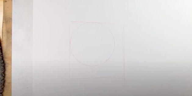 Vẽ một vòng tròn và hình vuông