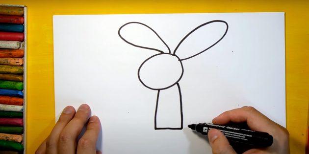 Làm thế nào để vẽ một cái thỏ rừng: Vẽ một cơ thể