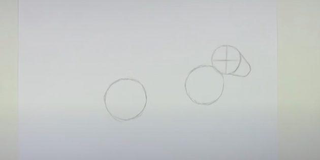 Làm thế nào để vẽ một cái thỏ rừng: Đánh dấu khuôn mặt