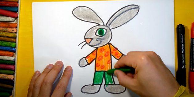 Sådan tegner du en hare: Farvelægningsben