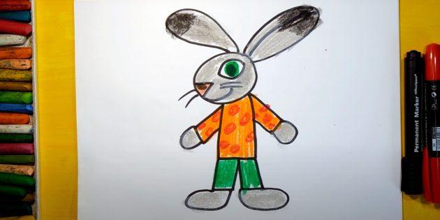 Làm thế nào để vẽ một chú thỏ hoạt hình đứng hoặc thỏ