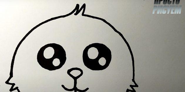 Làm thế nào để vẽ một cái thỏ rừng: Vẽ đôi giày và hoàn thành bản phác thảo của đầu