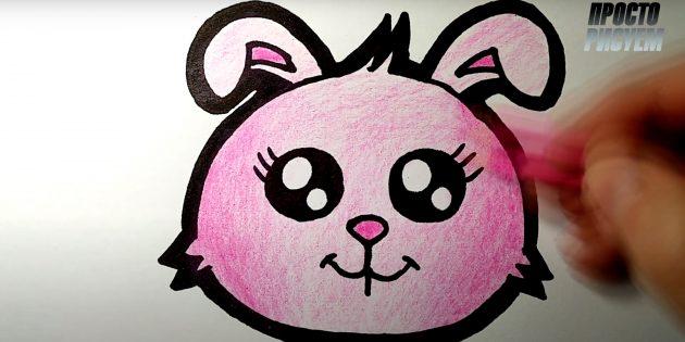 Cách vẽ thỏ rừng: Cắt chú thỏ