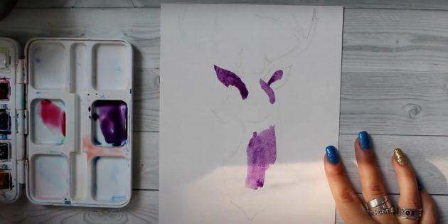 Käytä violettimaalia