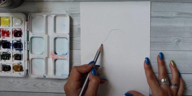 Kuinka piirtää hirvieläin: Piirrä kaksi riviä