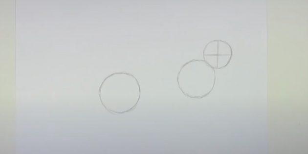 Làm thế nào để vẽ một cái thỏ rừng: Đặt các dòng bên trong đầu