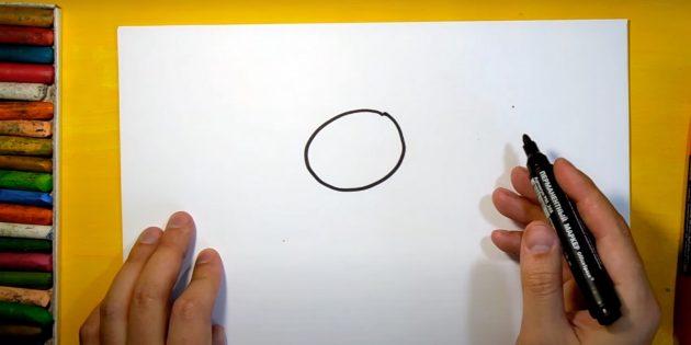 Sådan tegner du en hare: Notch dit hoved