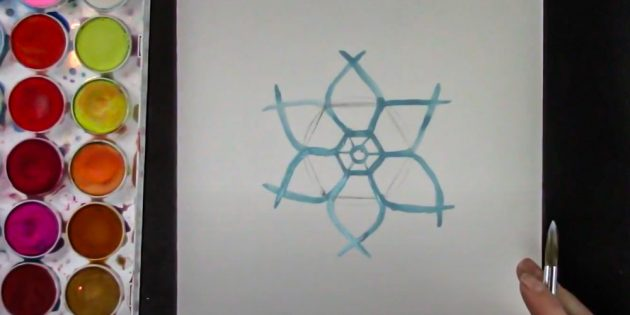 How to draw a snowflake: draw the whole figure