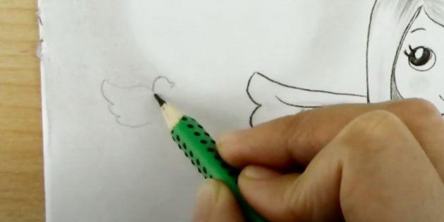 چگونه به رسم فرشته: سایه ها را بر روی بال اضافه کنید