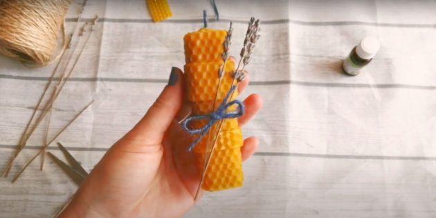 Лаванда шамы - өз қолдарымен сәндік шамдар