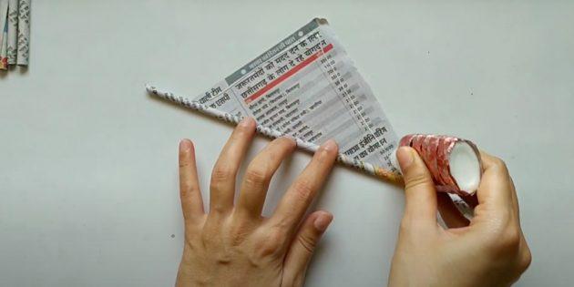 Поделки на 8 Марта: скатайте бумажные трубочки