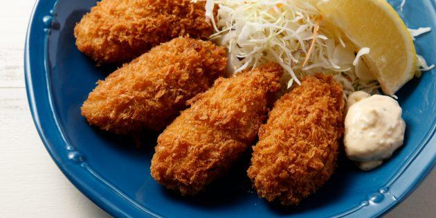 Cum să mănânci stridii: stridii prăjite crocante